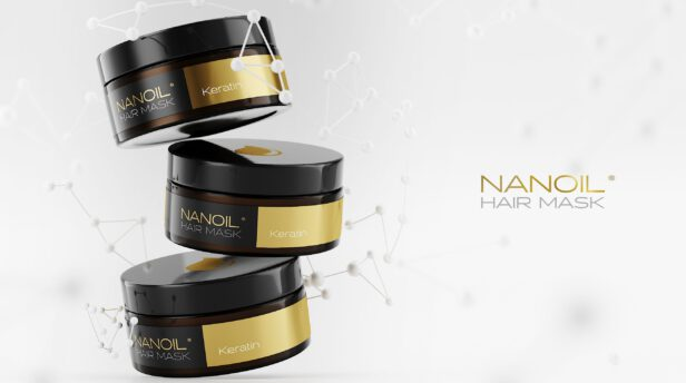 Nanoil top masks with keratin